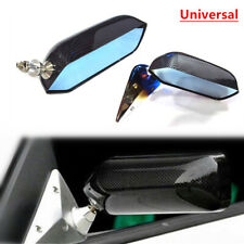 Pair Rear View Mirrors Carbon Fiber Look Car Modification Racing Style Assembly