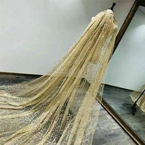 Shining Wedding Veils Bride Head Accessories Long Cathedral Veil Elegant Design