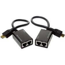 HDMI Over RJ45 CAT5e CAT6 Cable LAN Ethernet Extender Repeater 3D Up To 30 Metre
