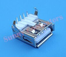 2x USB 2.0 Socket Port Female Plug Repair Replacement Part 90° Angle Pin Type-A