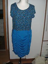 Abendkleid in blau , Gr.44/46