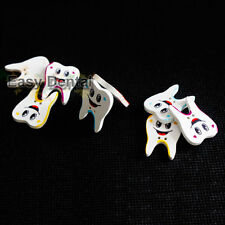 200pcs Sewing Button art crafts Wooden Dental Tooth Molar Smile Face Cute Gift