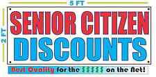 SENIOR CITIZEN DISCOUNTS Banner Sign NEW Larger Size Best Quality for the $$$