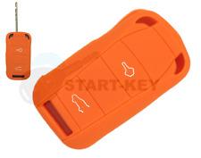 Porsche 955 957 Cayenne Turbo Folding Key Silicone Case Cover Case Orange