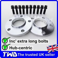 12MM HUBCENTRIC ALLOY WHEEL SPACERS + M14x1.25 BOLTS - BMW (5x120 PCD) [2D10K39]