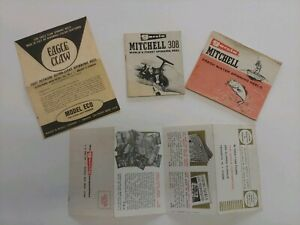 Vintage GARCIA MITCHELL Freshwater SPINNING Reels BOOKLETS Eagle Claw Assortment