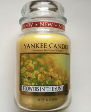 Yankee Candle FLOWERS IN THE SUN 22 oz LARGE JAR HTF RETIRED FLORAL SCENT