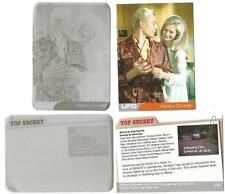 UFO Trading Cards Printing Plates pair Base Card 28 - Happy Couple