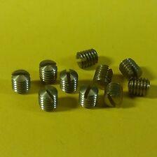 10 Stk Madenschrauben M 3,5x4 DIN 551/Messing mit Schlitz Drehknöpfe Autoradio