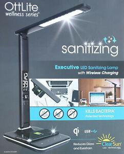 Ottlite Executive LED Sanitizing Desk Lamp with Wireless Charging