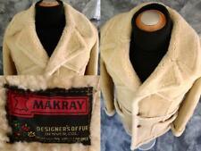 ✰COWBOY COOL✰ Marlboro MAN SHEEPSKIN Shearling COAT Jacket Sz 42 USA Made MAKRAY
