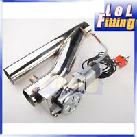"2"" Exhaust Downpipe Testpipe Catback E Electric Cutout kit Switch Control"