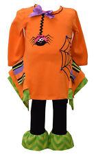 Bonnie Jean Girls Halloween Spider Web Fall Tutu Dress Leggings 2T 3T 4T