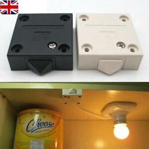 Wardrobe Light Switch - Cabinet Door Cupboard 2 Amp Push To Break UK