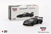 #00020-L - Mini GT McLaren Senna Onyx Black LHD - 1:64
