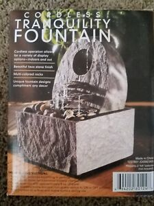 Tranquility Pottery WATER Fountain with River Rocks in Box CORDLESS