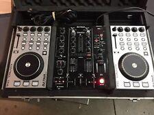 DJ-Tech DJM-303 Twin USB DJ Mixer w/ 2 DJ Kontrol One Mixers & Hard Case