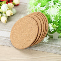 1~100 Cork Round Coasters Drink Cup Mat Coffee Placemats Plain Tea Wine Tablemat