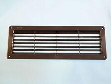 PLASTIC AIR VENT IN BLACK  370mm x 130 x 20mm inc insect net caravan motorhome