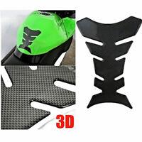 1x 3D Carbon Fiber Motorcycle Gel Oil Gas Fuel Tank Protector Pad Sticker D P3V1