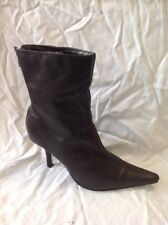 Dorothy Perkins Black Ankle Leather Boots Size 5