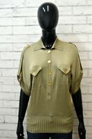 Maglia Vintage Donna LUISA SPAGNOLI Taglia S Pullover Blusa Manica Corta