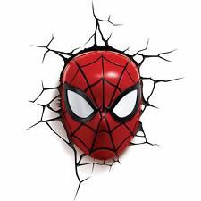 Marvel Ultimate Spiderman Mask Children's 3D LED Wall Light