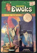 Star Wars Kenner Vintage Ewoks Cartoon LOGRAY Medicine Man MOC 1985 With Coin