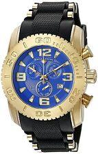 Reloj De Cuarzo utiliza Swiss Legend Para Hombre Negra del silicio Banda De Acero De Oro 10070-YG-03