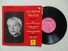 """LP 33T 25cm LUCIENNE DELYLE """"Chante ses grands succes"""" TRIANON 5.639 FRANCE §"""