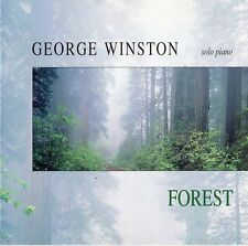 """GEORGE WINSTON """"FOREST SOLO PIANO"""" GERMAN CD WINDHAM HILL / M. ISHAM - J. BARRY"""