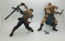 "7"" conan mcfarlane action figures SKIFELL &  Vlad the Impaler lot of 2 AS IS"