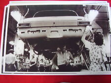 1963 PLYMOUTH  VALIANT ON ASSEMBLY LINE 11 X 17  PHOTO   PICTURE