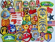 Lot of 40 Vtg Patches Boy Scout Variety Flag NSC Truck Military Souvenir Sports