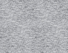 5 Gray Stone Seamless Paper Scenery Sheets for O Scale Model Train Layouts