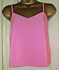 ASOS Pink Cropped Cami Camisole Vest Top V Neck Adj Straps Summer Beach Size 6
