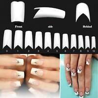 500Pcs Acrylic Gel Nail Manicure Decor V Shape False Nails Nail Art Tips Decor