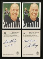 1987 HOCKEY HALL OF FAME RED STOREY TWO AUTOGRAPHED HOCKEY CARDS