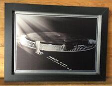 """A4 FRAMED Technics SL1210 print on aluminium - approx 13"""" x 10"""" inc Frame - NEW"""