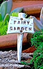"""Fairy Garden Sign -Ceramic """"Fairy Garden""""  - Terrarium, Fairy Garden"""
