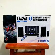 New Naxa Bluetooth Compact Shelf Stereo System Cd Player Am/Fm Radio Aux Remote