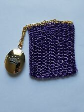 Purple and Gold Chainmail Dice Bag/Coin Purse and Royal Locket