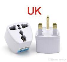 5 European 2 Pin to UK 3 Pin Plug Travel Adaptor Euro EU Converter