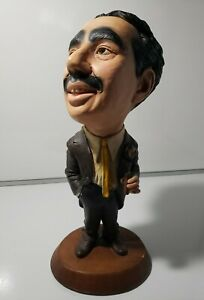 ESCO PRODUCTIONS GROUCHO MARX CHALKWARE STATUE 1973 16 INCH TALL