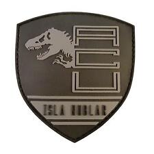 jurassic world isla nublar shield PVC 3D rubber collector hook&loop patch