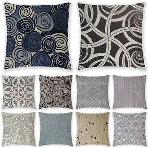 Geometric Cushion Cover Pillow Case Linen Waist Home Decor Black White Gray Lot