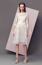 Brand New RRP £850 Escada Sebala Sheer Knit Ivory Pink Cardigan