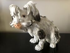 Antique Ludwigsburg Porcelain Bolognese Spaniel Dog C. 1764 Damage!