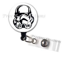Stormtrooper BW Team ID Badge Reel Holder Clip Retractable RT Tech Nurse