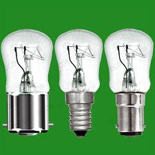 10x 15W Clear Pygmy Light Bulbs, BC, SBC or SES